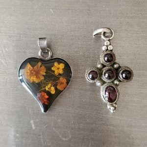 Jewelry - 2 sterling sliver pendants.